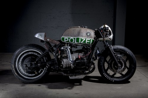 Not your usual BMW police bike: VTR's blown R80