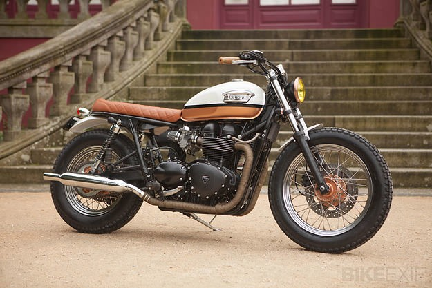 Ton-Up Garage's 'Urban Pearl' Triumph T100