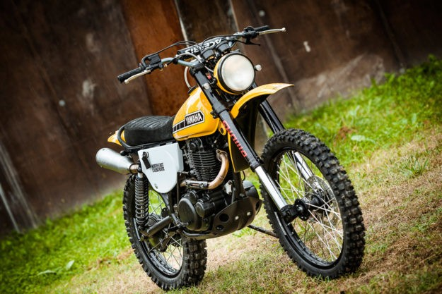 Not So Mellow Yellow: North East's XT500 resto-mod