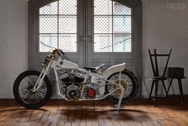 Harley Flathead snow motorcycle by Ehinger Kraftrad