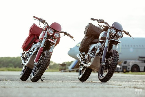 Malle hardens up a pair of Enfield Interceptor 650s | Bike EXIF