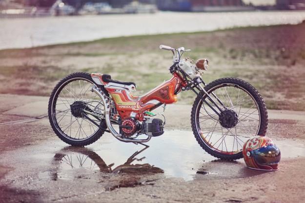 The Kreidstler Project: Danny Schramm's wild Kreidler moped