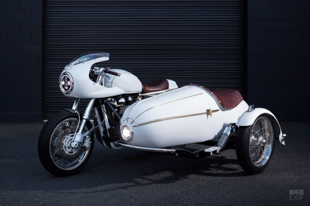 A Triumph sidecar built to deliver cold brew coffee