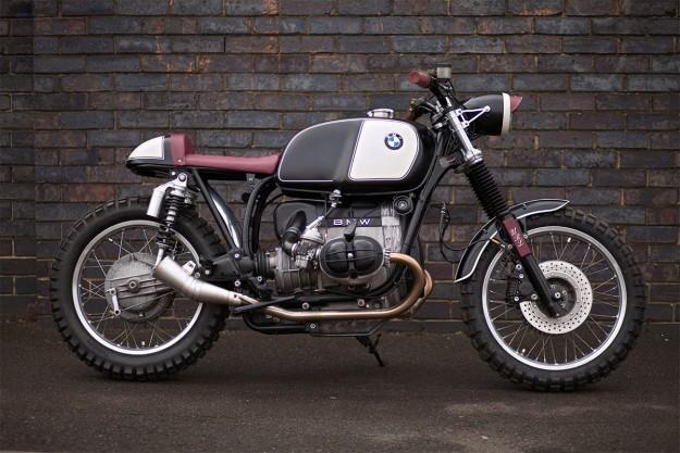 Oxblood: Urban Rider's BMW street scrambler