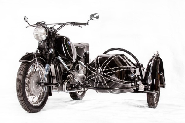 A BMW R69S with a bit on the side