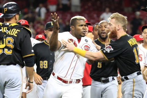 Yasiel Puig, Amir Garrett, Keone Kela, More Suspended for Pirates vs. Reds Brawl