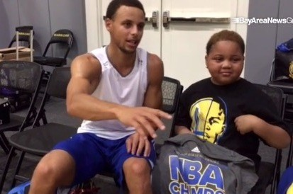 Stephen Curry Fan with Inoperable Brain Tumor Meets His Hero