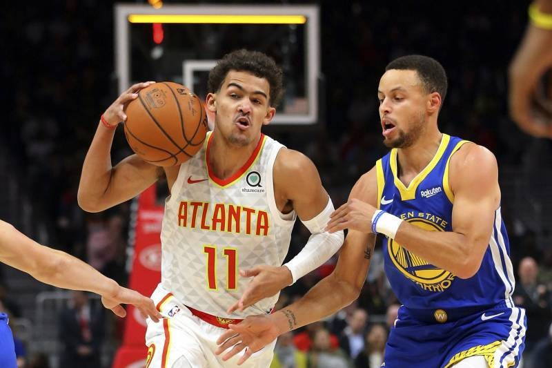 Trae Young Jokes He'll Pass Stephen Curry as NBA's Best Shooter Within a Year