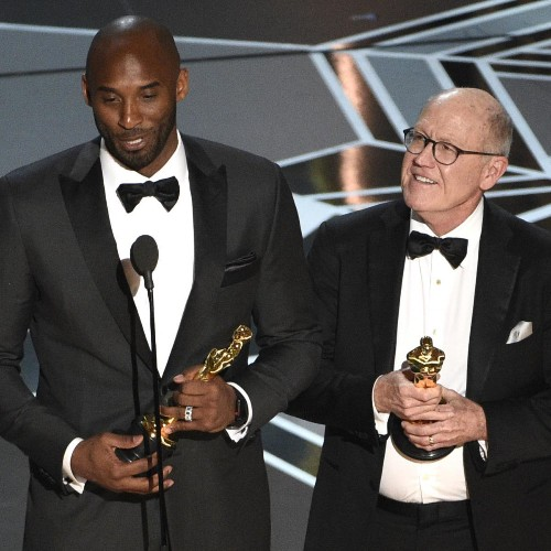 Kobe Bryant Makes 'Shut Up and Dribble' Comment After Winning Oscar Award