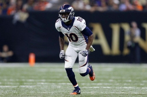 Emmanuel Sanders Carted to Locker Room After Suffering Ankle Injury vs. Giants