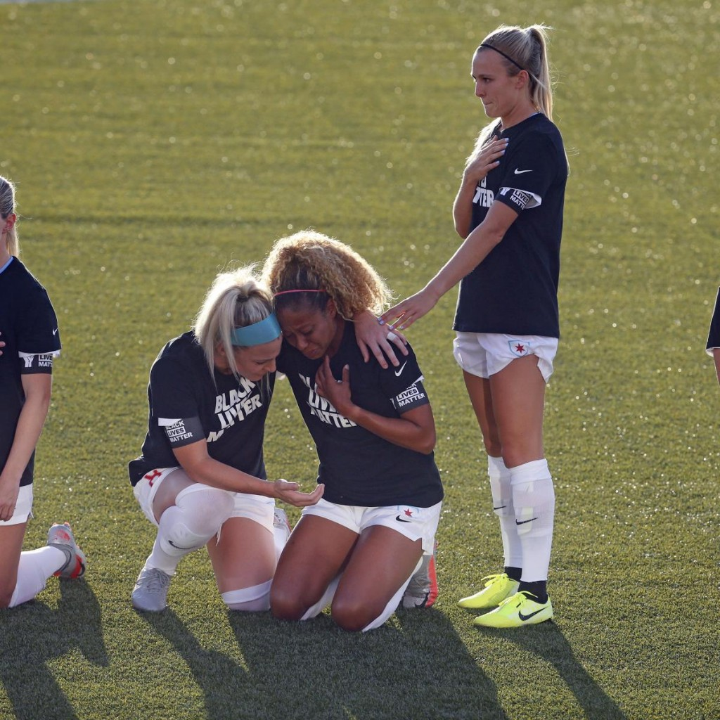 Red Stars' Rachel Hill Explains Standing While Team Kneeled During Anthem