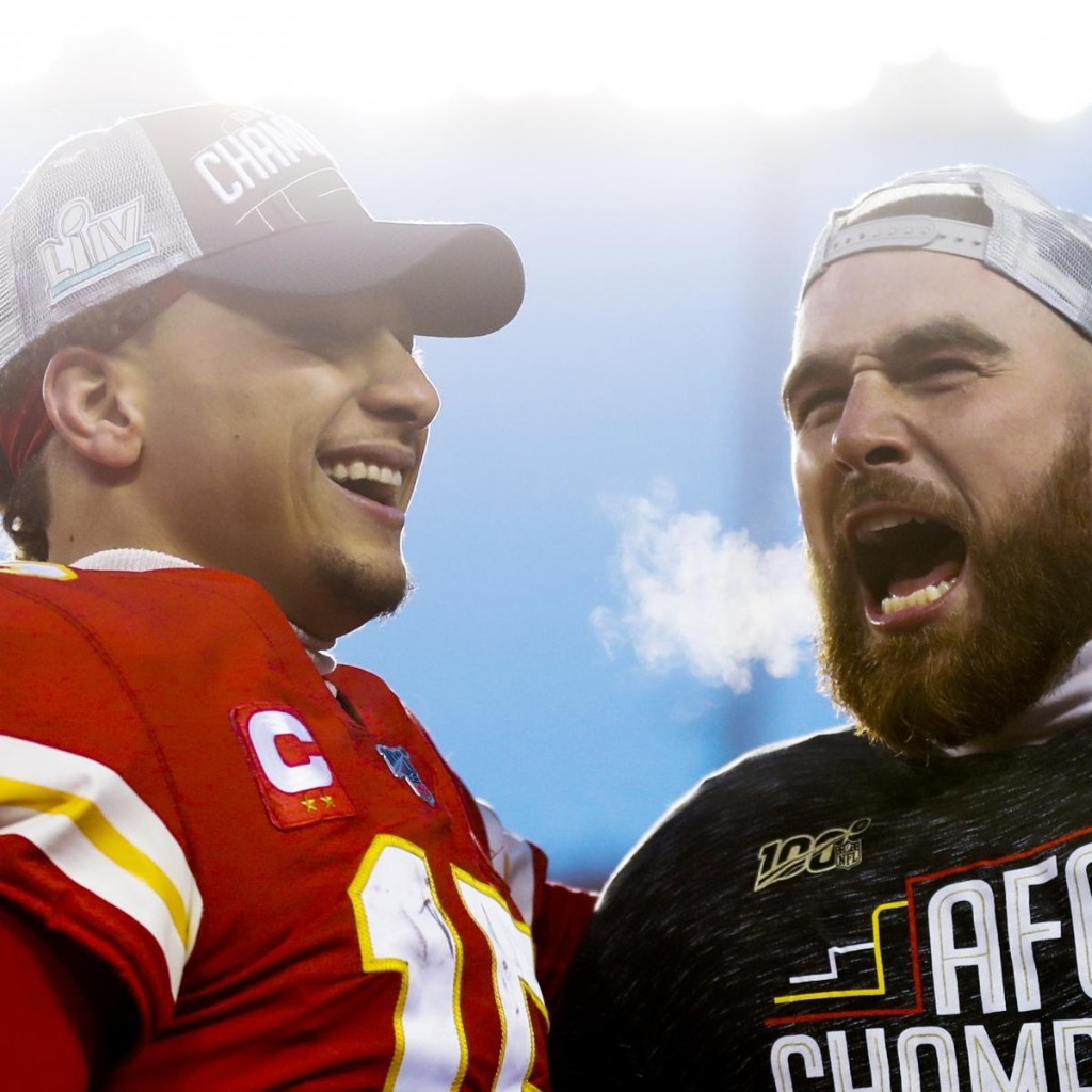 Chiefs' Patrick Mahomes, Travis Kelce Spotted at Casino in Lake Tahoe on Video
