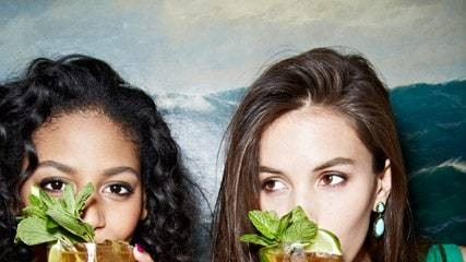 Models Drinking the Cocktails from Bon Appetit's May Issue