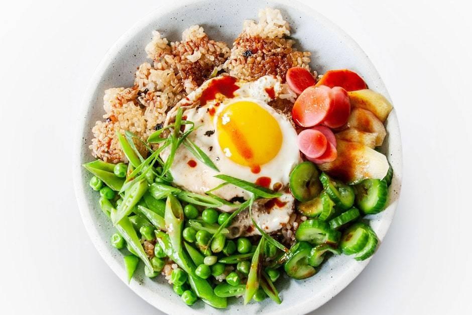 Crispy Rice Bowl With Spring Vegetables