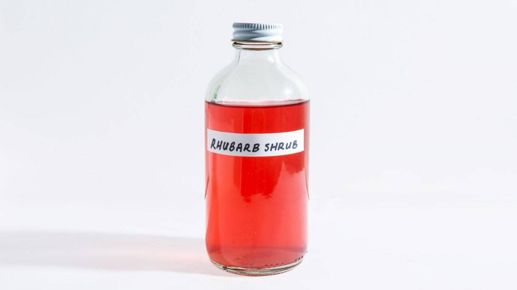 Rhubarb Shrub is Spring in a Bottle