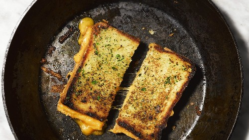Garlic Bread-Grilled Cheese Combines Two Beautiful Things