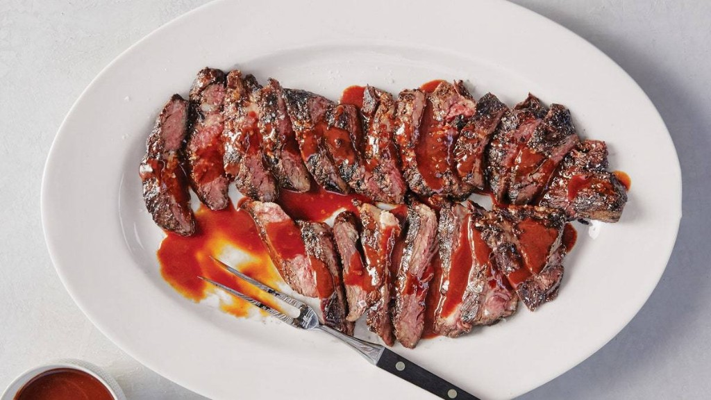 Skirt Steak With BA.1. Sauce