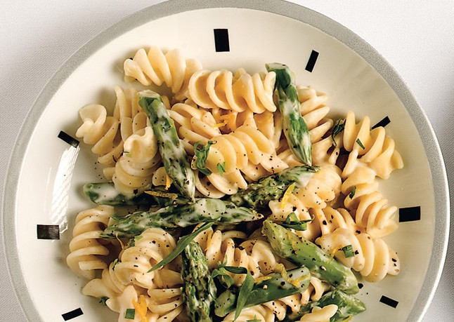 Pasta With Goat Cheese, Lemon And Asparagus - Magazine cover