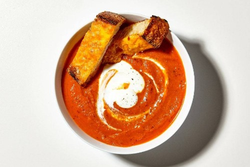 Creamy Tomato Soup with Cheese Toasties