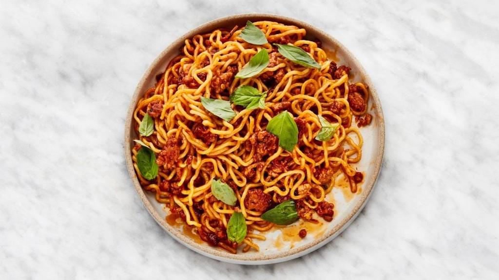 Spicy-Sweet Sambal Pork Noodles