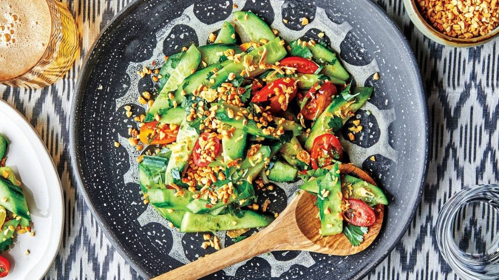 Sweet and Spicy Cucumber Salad