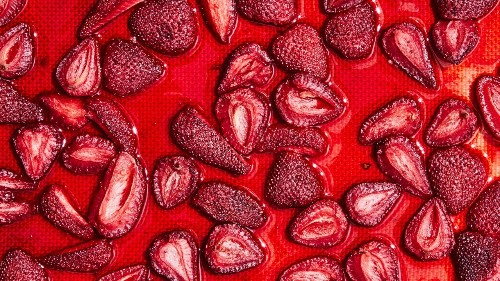 Oven Dried Strawberries Are the Dessert for People Who Can't Bake