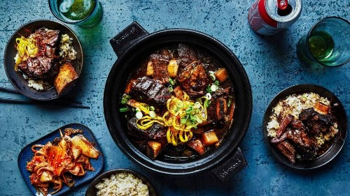Red Wine and Soy–Braised Short Ribs