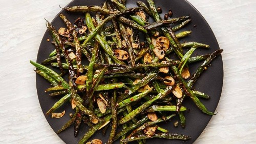 Blistered Green Beans with Garlic