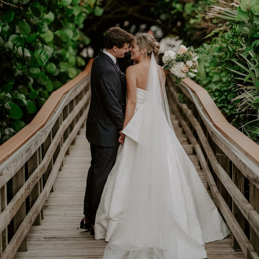 Actress Taylor Louderman's Micro Wedding at an Historic Florida Lighthouse