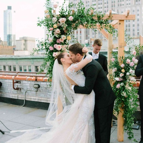 An Intimate Rooftop Wedding in the Heart of New York City