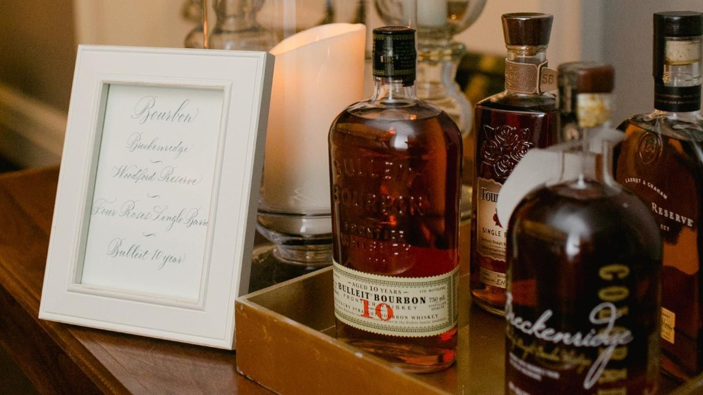 6 Ways to Host a Bourbon Bar at Your Wedding