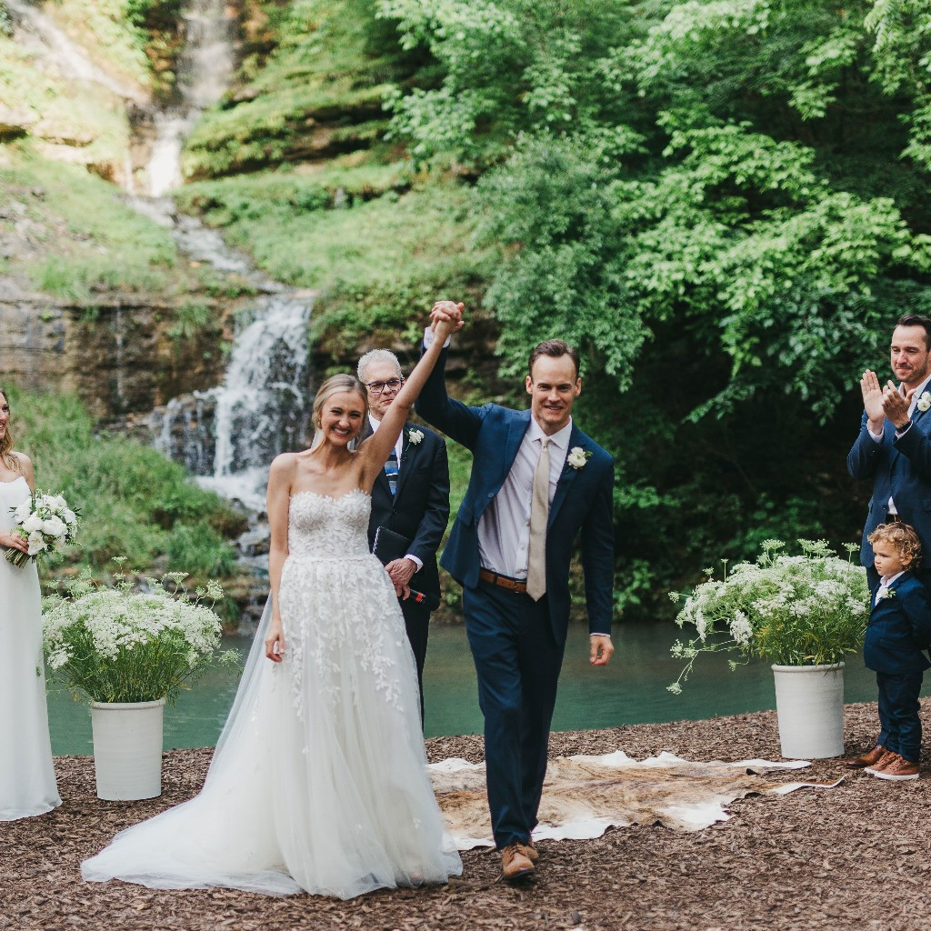 A Camp-Inspired Wedding Complete With Fishing Stations in the Ozarks