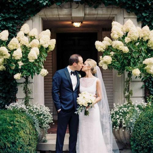An English Garden Wedding in the Bride's Backyard