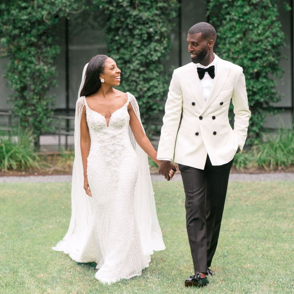 A Glamorous, Black-Tie Wedding at Home in Houston