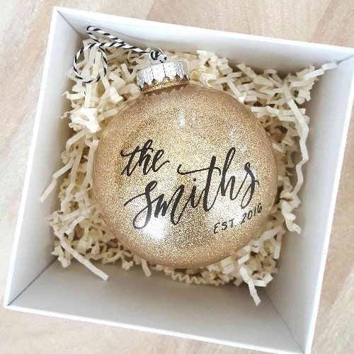 25 Newlywed (and Newly-Engaged) Christmas Ornaments That Are as Precious as You Guys