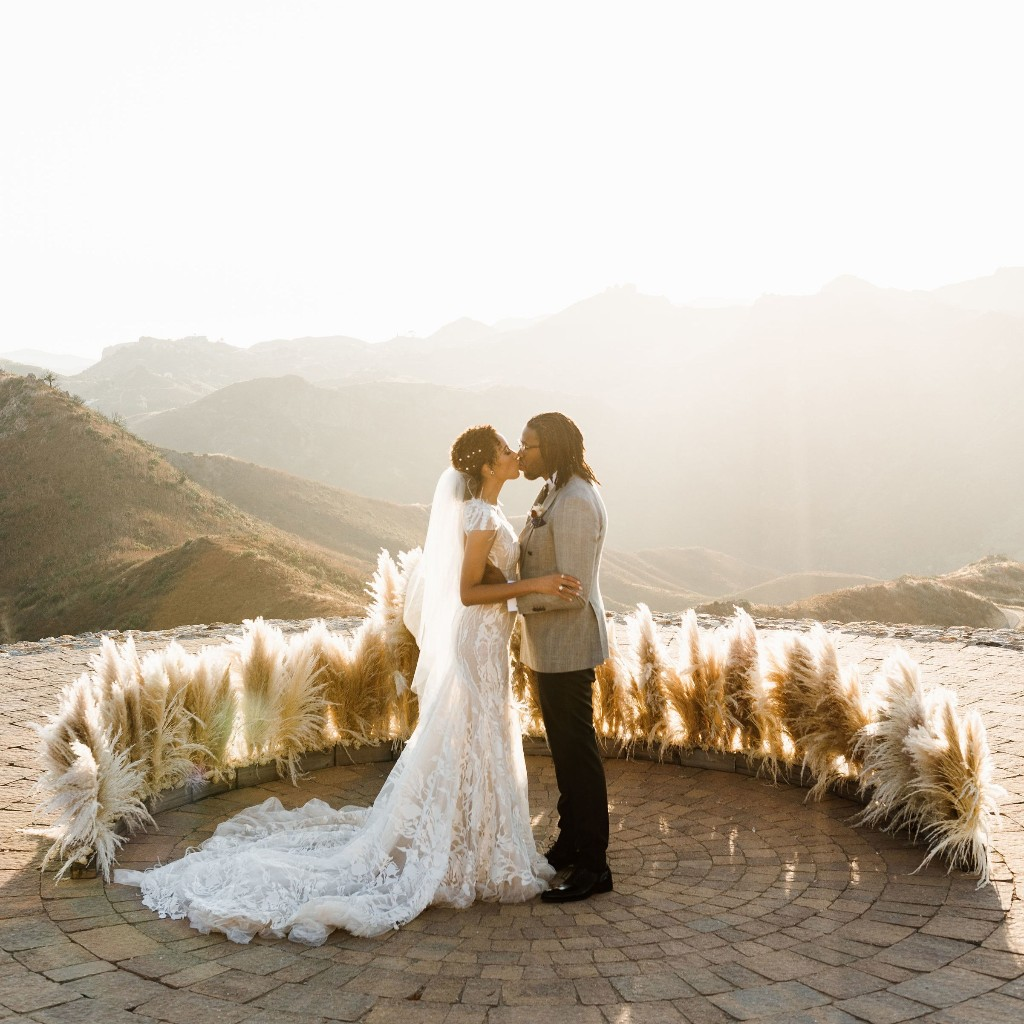 A Dreamy, Two-Person Wedding on a Hilltop Overlooking Malibu