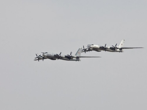 Russian nuclear bombers fly over Korean peninsula during joint US and South Korea military exercises