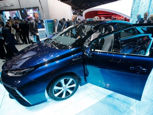 Toyota just showed its hydrogen-powered car at the Frankfurt Motor Show