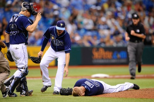 Rays Pitcher Alex Cobb Hit In Head By Line Drive Traveling At 102 Miles Per Hour