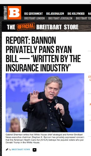 Pro-Trump faction of conservative media ready to lay the blame on Paul Ryan for healthcare failure