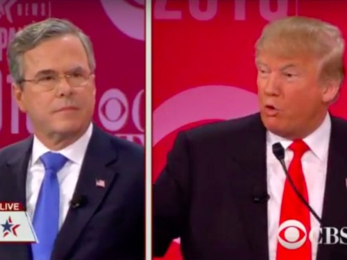 'The World Trade Center came down': Donald Trump and Jeb Bush unload on each other in explosive debate exchange