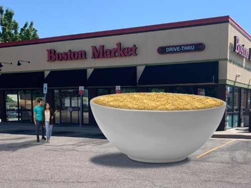 Boston Market is giving away 2,000 pounds of mac and cheese, mashed potatoes, or sweet corn