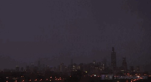 Insane Lighting Storm Hits Three Iconic Chicago Towers At Once