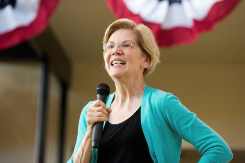 Three candidates quit the race, and Elizabeth Warren could win big