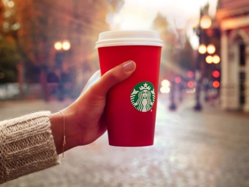 Trump suggests boycotting Starbucks' plain red holiday cups