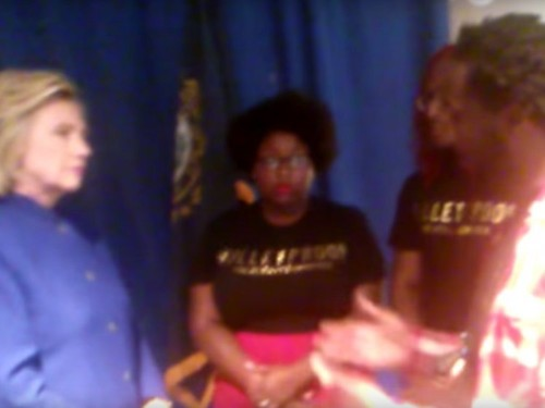 Hillary Clinton had a tense meeting with Black Lives Matter activists