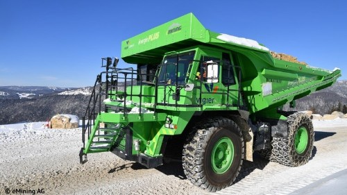 World's largest electric vehicle, the eDumper, is a 121-ton dump truck