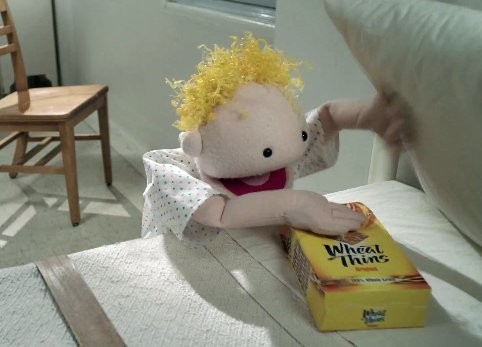 AD OF THE DAY: Wheat Thins Trigger An Existential Crisis For A Puppet Locked In A Mental Institution