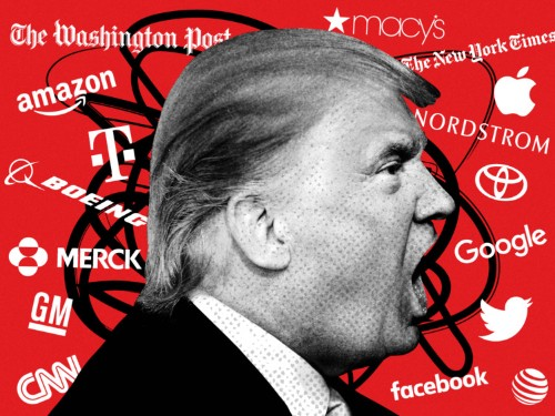 Trump targets companies including Apple, Nordstrom, and Google