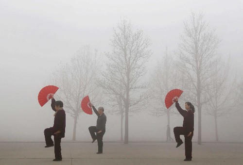 Eerie photos of air pollution in China